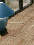 azulejo de suelo de madera del grano de la inyección de tinta 3D 150*600 Rd16026
