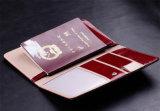 Неподдельный держатель устроителя мешка бумажника пасспорта PU кожаный