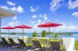 Водоустойчивые стулы ротанга пляжа моря