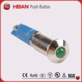 Ce UL ISO9001 10mm Licht van de Indicator van het Messing van het Metaal IP67 het Waterdichte