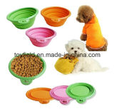 Tazón de fuente portable del perro del tazón de fuente del gato del alimentador del animal doméstico