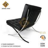 黒いLeather/PUバルセロナの椅子デザイン家具(GV-BC01)