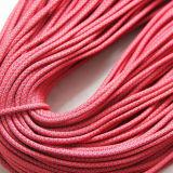 Rould編みこみのポリエステル多彩なロープの靴レース