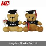 Urso da peluche da graduação do luxuoso da testa com tampão e diploma à disposicão!