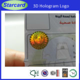 tarjeta del PVC del holograma 3D