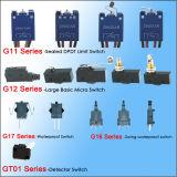 Commutateurs micro imperméables à l'eau de bouton poussoir de position de 120 volts 3
