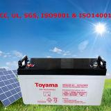 Sistema solar com os bancos da bateria da potência solar de apoio de bateria