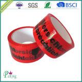 Логос красного цвета BOPP BOPP слипчивый напечатал ленту P050 упаковки