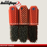 Fickert Type Strong Steel Wire Brushes per Polishing Granite/Marble