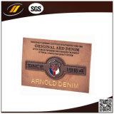 A etiqueta de alta freqüência feita sob encomenda gravou as etiquetas genuínas do couro do falso (HJL44)
