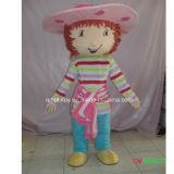 Ragazza dello Shortcake della fragola del costume della mascotte del personaggio dei cartoni animati di vendita di Factroy