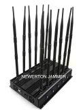 WiFi 5.2g 5.8g Cell Phone 2g 3G 4G GPS VHF UHF Lojack RF 315/433/868MHz를 위한 강력한 Desktop Jammer