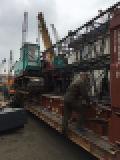 元の日本の使用されたKobelcoの油圧クローラークレーンクレーン50トンの地勢