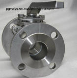 Válvula de esfera da bolacha Pn16 do RUÍDO 1.4408/1.4308/1.0619 para a alta qualidade