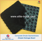 HDPE Dimple Geomembrane Composite Color Negro PP No tejido Geotextil