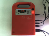 bewegliche Solar Energy Systems-Beleuchtung des Installationssatz-5W, FM Radio, Musik, USB-Ausgabe, aufladenmobile