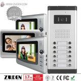 Телефон двери Multi-Квартиры видео- с камерой CMOS напольной