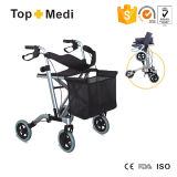 Topmedi Medical Folding Aluminum Walker Rollator para Elderly Disabled