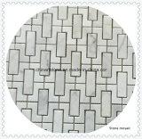 Mosaico de mármore branco de pedra da natureza para a telha do banheiro