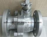 Reparto de la válvula de esfera flotante de acero con bridas Fin 2PC