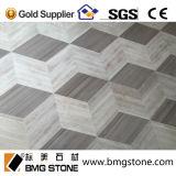 Chinesische graue hölzerne Marmorwasserstrahlmedaillons für Wand-und Fußboden-Dekoration
