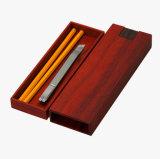 Boîtes-cadeau de luxe de tiroir de crayon de bois de rose