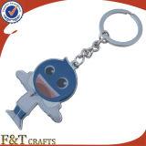 Frasco feito sob encomenda a promoção dada forma anuncia metal trançado Keychain (FTKC1851A)