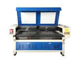 Вырезывание лазера ткани автоматическое подавая и гравировальный станок 1600X1000mm двойные головки