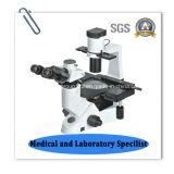 逆にされたTrinocularの実験室の生物顕微鏡