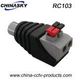 CCTVweiblicher RCA-Verbinder mit Screwless Terminal (RC103)