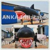 Раздувной воздушный шар акулы шаржа для партии двери вне