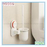 Muur Opgezet die Toilet Brush&Holder voor het Schoonmaken van de Badkamers wordt geplaatst