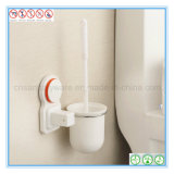 O toalete fixado na parede Brush&Holder ajustou-se para a limpeza do banheiro