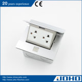 Aluminiumpresse-Typ Multimedia-Fußboden - eingehangene Kontaktbuchse-Bodenanschluss-Kasten-Fußboden-Kontaktbuchse