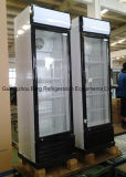 Two dritto Glass Door Showcase Refrigerator con Ce