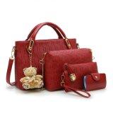 4PCS de Zakken van Pu Geplaatst de Vrouw van de Ontwerper van de Manier Dame Handbag
