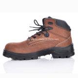 Compuesto Punta de Seguridad del cuero de arranque Brown, zapatos de seguridad Menm-8356