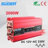 Inversor modificado 2000W de la potencia de onda de seno de Suoer (SDB-2000A)