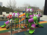2016 PlastikMaterial und Outdoor Playground Type Kids Play Equipment Slides (HD16-055A)