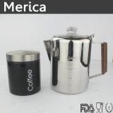ステンレス鋼の木のハンドルのコーヒー鍋