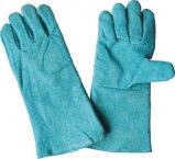 Зеленая работа Glove-6502 заварки Split кожи коровы. Gn