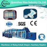 Máquina de fraldas de alta velocidade para bebês com SGS da China (YNK400-FC)