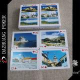 Papierspielkarte für Rumänien-Landschaft