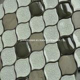 8mm Thickness Peach Ice Crackle Ceramic Mosaic con Glass (OYT-S21)