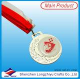 Époxy personnalisé de médaille de médaillon avec la lanière