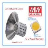 Indicatore luminoso elencato della baia dell'UL Meanwell 50W LED del Ce alto (con il dissipatore di calore di rame del tubo)