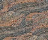 Azulejo indio del granito de Juparana del suelo de piedra de la losa de Wholeslae
