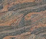 Wholeslae 포장 석판 돌 마루 인도 Juparana 화강암 도와