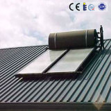 schwarzer chromierter beschichtender nicht druckbelüfteter Solarwarmwasserbereiter der flachen Platten-300L