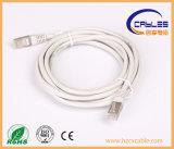 Cuerda de corrección probada ISO/Ce/RoHS del cable de LAN Cat5e